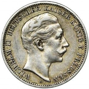 Niemcy, Królestwo Prus, Wilhelm II, 3 Marki Berlin 1908 A