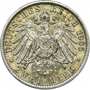 Niemcy, Królestwo Prus, Wilhelm II, 2 Marki Berlin 1905 A