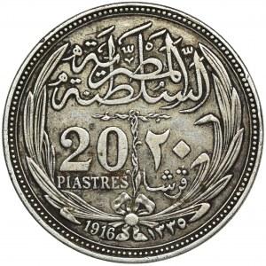 Egipt, Hussein Kamil, 20 Piastrów 1916 (AH 1335)