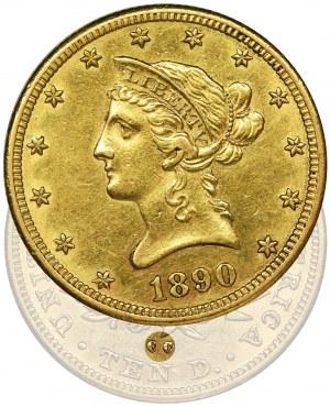 USA, 10 Dollars Carson City 1890 CC - RARE