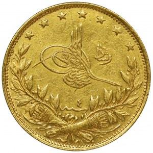 Turcja, Mahmud V Resad, 100 Piastrów 1909 (AH 1327)