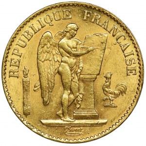 France, III Republic, 20 Francs Paris 1876 A