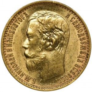 Rosja, Mikołaj II, 5 Rubli Petersburg 1898 A•Г