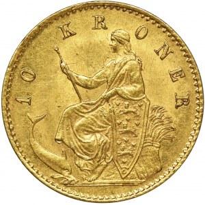 Dania, Krystian IX, 10 Koron Kopenhaga 1873