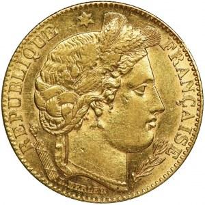 France, III Republic, 10 Francs Paris 1899 A