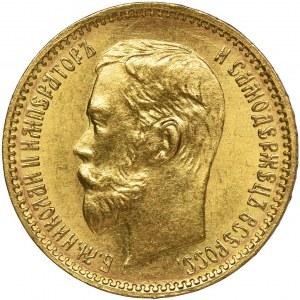 Rosja, Mikołaj II, 5 Rubli Petersburg 1902 A•P