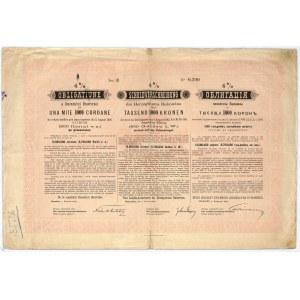 Księstwo Bukowiny, 4% obligacja 1894, 1.000 koron