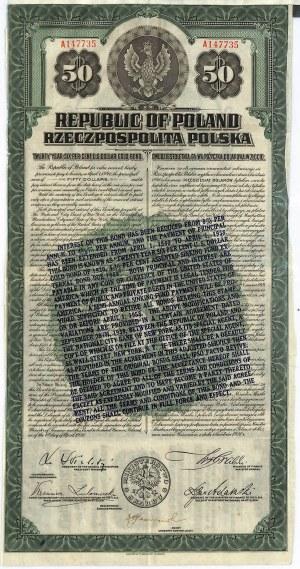 6% pożyczka dolarowa 1920, obligacja $50
