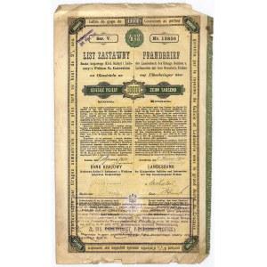 Bank Krajowy, list zastawny, 10000 koron