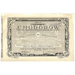 Chodorów Akcyjne Towarzystwo dla Przemysłu Cukrowniczego, 100 zł, 1925 r.