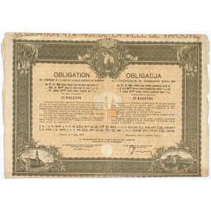 4,5% pożyczka m. st. Warszawy 1931, obligacja 284 franki fr.