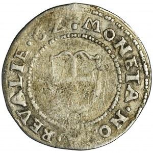 Szwecja, Eryk XIV, 1/2 Marki Rewal 1562 - BARDZO RZADKI