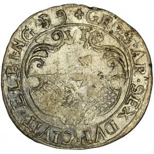 Swedish occupation, Carolus X Gustav, 6 Groschen Elbing 1659 - RARE