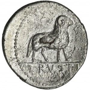 Roman Republic, L. Rustius, Denarius