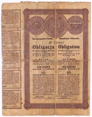 8% państwowa pożyczka złota 1922 - obligacja 10.000 mkp/10 zł