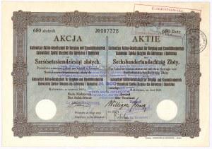 Katowicka Spółka Akcyjna dla Górnictwa i Hutnictwa - 680 zł