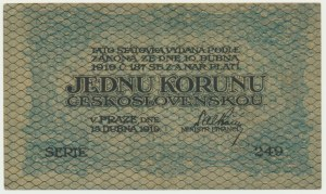 Czechoslovakia, 1 korunu 1919
