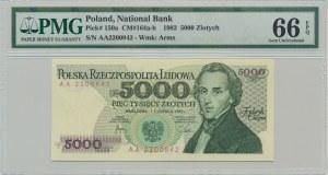 5.000 złotych 1982 - AA - PMG 66 EPQ