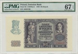 20 złotych 1940 - A - PMG 67 EPQ