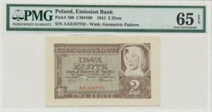 2 złote 1941 - AA - PMG 65 EPQ