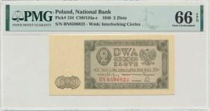 2 złote 1948 - BN - PMG 66 EPQ