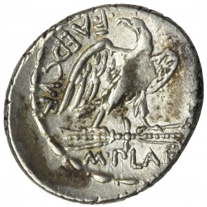 Republika Rzymska, M. Plaetorius M.f. Cestianus, Denar