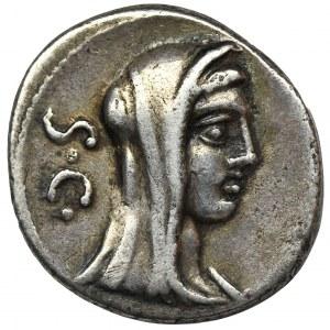 Republika Rzymska, P. Sulpicius Galba, Denar