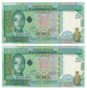 Guinea, set of 10.000 francs 2008 (2 pcs.)