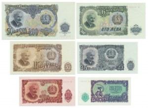 Bułgaria, zestaw 5-200 leva 1951 (6 szt.)