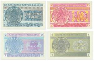 Kazachstan, zestaw 1-20 tyin 1993 (4 szt.)