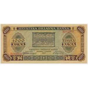 Chorwacja, 1.000 kun 1943