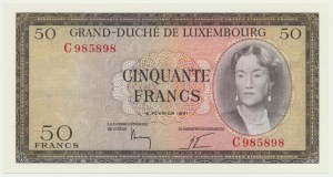 Luxembourg, 50 francs 1961