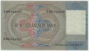 Netherlands, 10 guldens 1941
