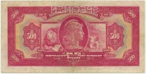 Czechoslovakia, 500 korun 1929 - SPECIMEN -