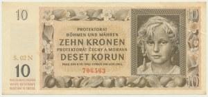 Czechy i Morawy, 10 koron 1942