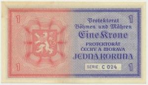 Bohemia and Moravia, 1 koruna (1940)