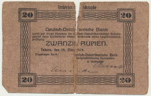 Germany (East Africa), 20 rupees 1915