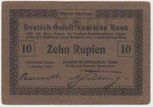 Germany (East Africa), 10 rupees 1916