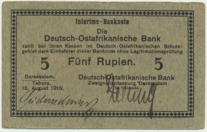 Germany (East Africa), 5 Rupees 1915