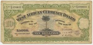 Brytyjska Afryka Zachodnia, 10 szylingów 1937