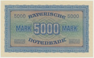 Niemcy (Bawaria), 5.000 marek 1922