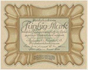 Germany, 50 mark 1918