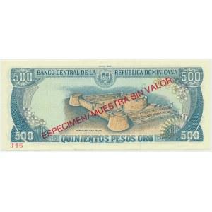 Dominikana, 500 pesos 1988 - WZÓR -