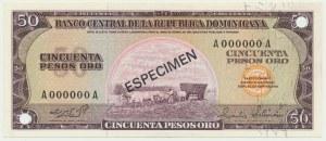 Dominikana, 50 pesos (1964) - WZÓR -