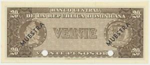 Dominicana, 20 pesos (1964) - SPECIMEN -