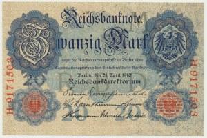 Niemcy, 20 marek 1910