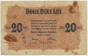 Romana, German Occupation, 20 lei 1917