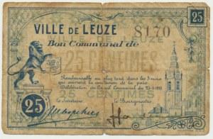 Francja (Leuze), bon na 25 centów 1918