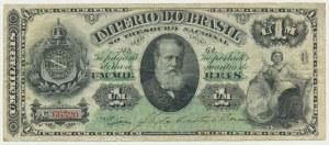 Brasil, 1 mil reis (1879) - RARE