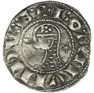 Krzyżowcy, Antiochia, Bohemund III, Denar typu helmet